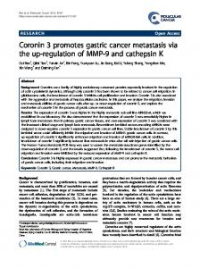 Coronin 3 promotes gastric cancer metastasis via ... - Molecular Cancer