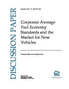 Corporate Average Fuel Economy Standards and the Market for New ...