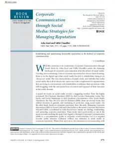 Corporate Communication through Social Media - SAGE Journals
