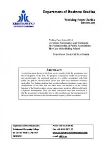 Corporate governance and corporate entrepreneurship in public ...