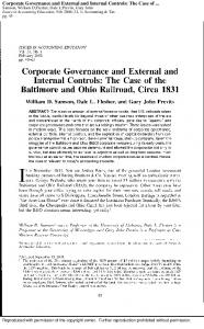 Corporate Governance and External and Internal ...