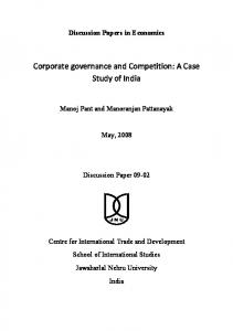 Corporate Governance and Product Market Competition