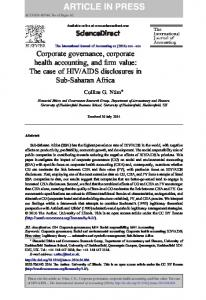 Corporate governance, corporate health accounting