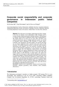 Corporate social responsibility and corporate governance in ...