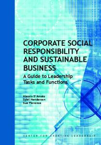 Corporate Social Responsibility and Sustainable Business