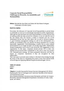 Corporate Social Responsibility: Challenges in