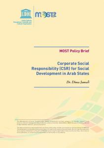 Corporate Social Responsibility (CSR) for Social ... - Unesco