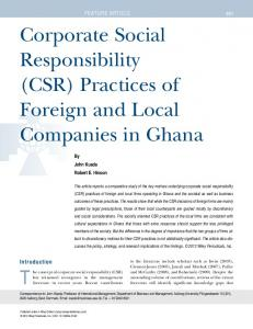 Corporate social responsibility (CSR) practices ... - Wiley Online Library