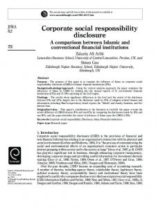 Corporate social responsibility disclosure - CiteSeerX