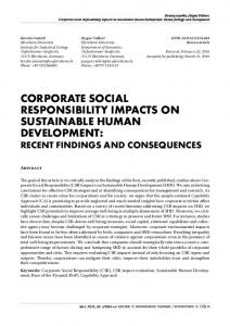 corporate social responsibility impacts on sustainable human ...