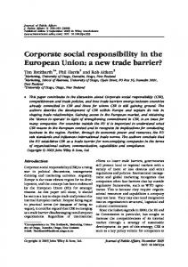 Corporate social responsibility in the European Union: a new trade ...