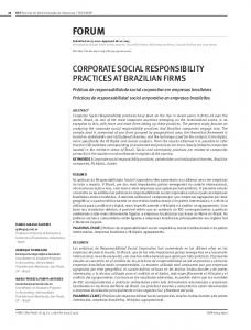 corporate social responsibility practices at brazilian firms
