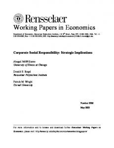Corporate Social Responsibility: Strategic Implications