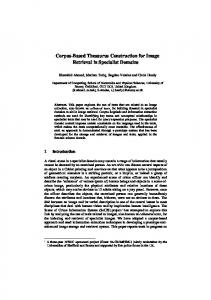 Corpus-Based Thesaurus Construction for Image ... - Semantic Scholar