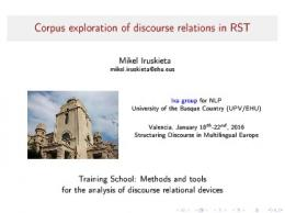 Corpus exploration of discourse relations in RST