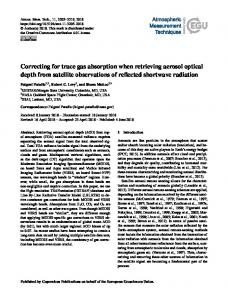 Correcting for trace gas absorption when retrieving aerosol optical ...
