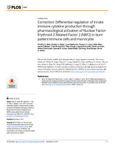 Correction: Differential regulation of innate immune cytokine ...