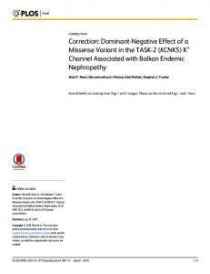 Correction: Dominant-Negative Effect of a Missense Variant in the ...