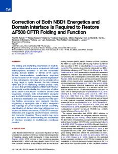 Correction of Both NBD1 Energetics and Domain Interface Is Required ...