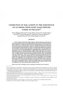 CORRECTION OF SOIL ACIDITY IN THE SUBSURFACE OF AN