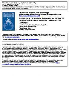 correction of vertical permeability estimated by horizontal-well ...
