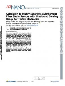 Correction to Highly Sensitive Multifilament Fiber Strain Sensors with