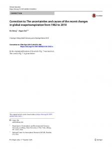 Correction to: The uncertainties and causes of the ... - Springer Link