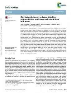 Correlation between cellulose thin film