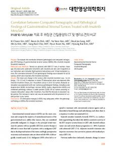 Correlation between Computed Tomography ... - KoreaMed Synapse
