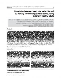 Correlation between heart rate variability and