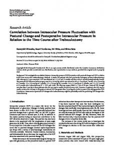 Correlation between Intraocular Pressure Fluctuation with Postural ...