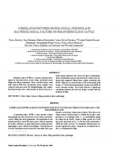 correlation between pathological findings and ... - revistas UFG