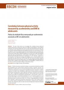 Correlation between physical activity measured by ... - Scielo.br