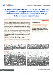 Correlation between Spectral Domain Optical Coherence Tomography ...