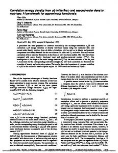 Correlation energy density from ab initio first- and second-order