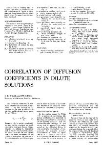 Correlation of diffusion coefficients in dilute solutions