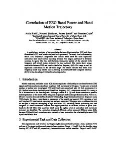 Correlation of EEG Band Power and Hand Motion Trajectory