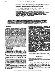 Correlation of Gas-Phase Stability of Bridgehead Carbocations with