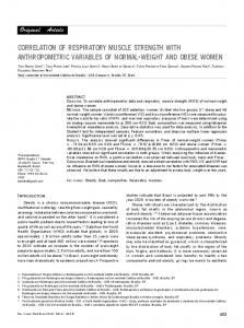 correlation of respiratory muscle strength with