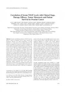 Correlation of Serum VEGF Levels with Clinical Stage ... - CiteSeerX