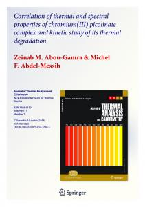 Correlation of thermal and spectral properties of