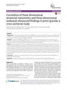 Correlation of three dimensional anorectal manometry and three ...