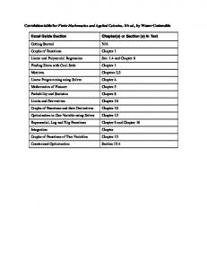 Correlation table for Finite Mathematics and Applied Calculus, 5th ...