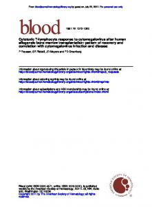 correlation with cytomegalovirus infection and ...