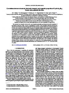 Correlations between structural, electronic transport, and magnetic ...