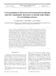 Correspondence between environmental gradients ... - Inter Research