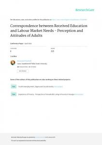 Correspondence between Received Education and
