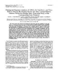Corresponding Gene Promoter - Journal of Virology - American ...