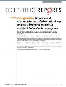 Corrigendum: Isolation and characterization of a ... - Nature