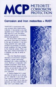Corrosion and Iron meteorites = RUST